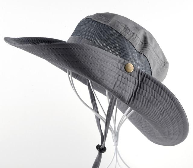 Men's Bob Summer Bucket Hats Outdoor Fishing Wide Brim Hat UV Protection Cap Men Hiking Sombrero Outdoor Gorro Hats For Men 1