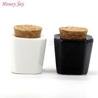 Honey Joy 2pcs Lot Porcelain Material White Black Color Nail Art Acrylic Glass Dappen Dish Liquid