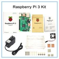 Raspberry Pi 3 Model B Board Raspberry Pi3 Case Power Plug EU US Heat Sinks