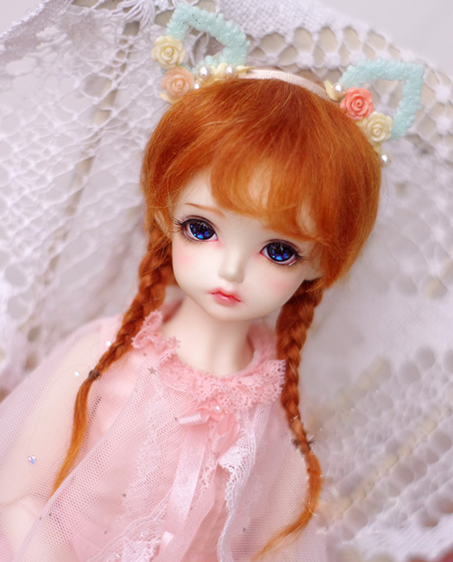 все цены на BJD doll wigs Radish red double braid mohair wigs for 1/3 1/4 1/6 1/8 1/12 BJD DD SD MSD YOSD doll wigs doll accessories онлайн