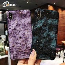 HALOCASE Platinum Marble Phone Case For iPhone X XS XR MAX Luxury Fashion Epoxy TPU 6 6S 7 8 Plus Cover FUNDA