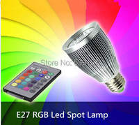 Envío libre E27 RGB LLEVÓ el BULBO 15 W llevó la Lámpara de La Bombilla con Control Remoto de múltiples colores llevó la iluminación