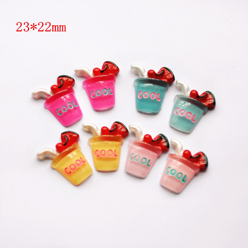15pcs Scrapbooking Phone Case Decorative Craft Cute DIY Miniature Artificial Fake Food  Resin Cabochons