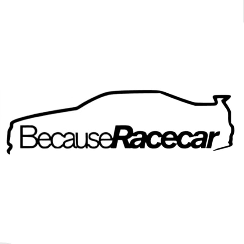 21.3CM*6CM Because Race Car Sticker Funny Vinyl Car Stylings And Decals Decoration Sticker Black Sliver C8-1106