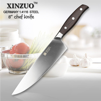 XINZUO NEW 8 Inch Chef Knife Germany Steel Kitchen Knife Cleaver Knife Vegetable Melon Knife Rosewood