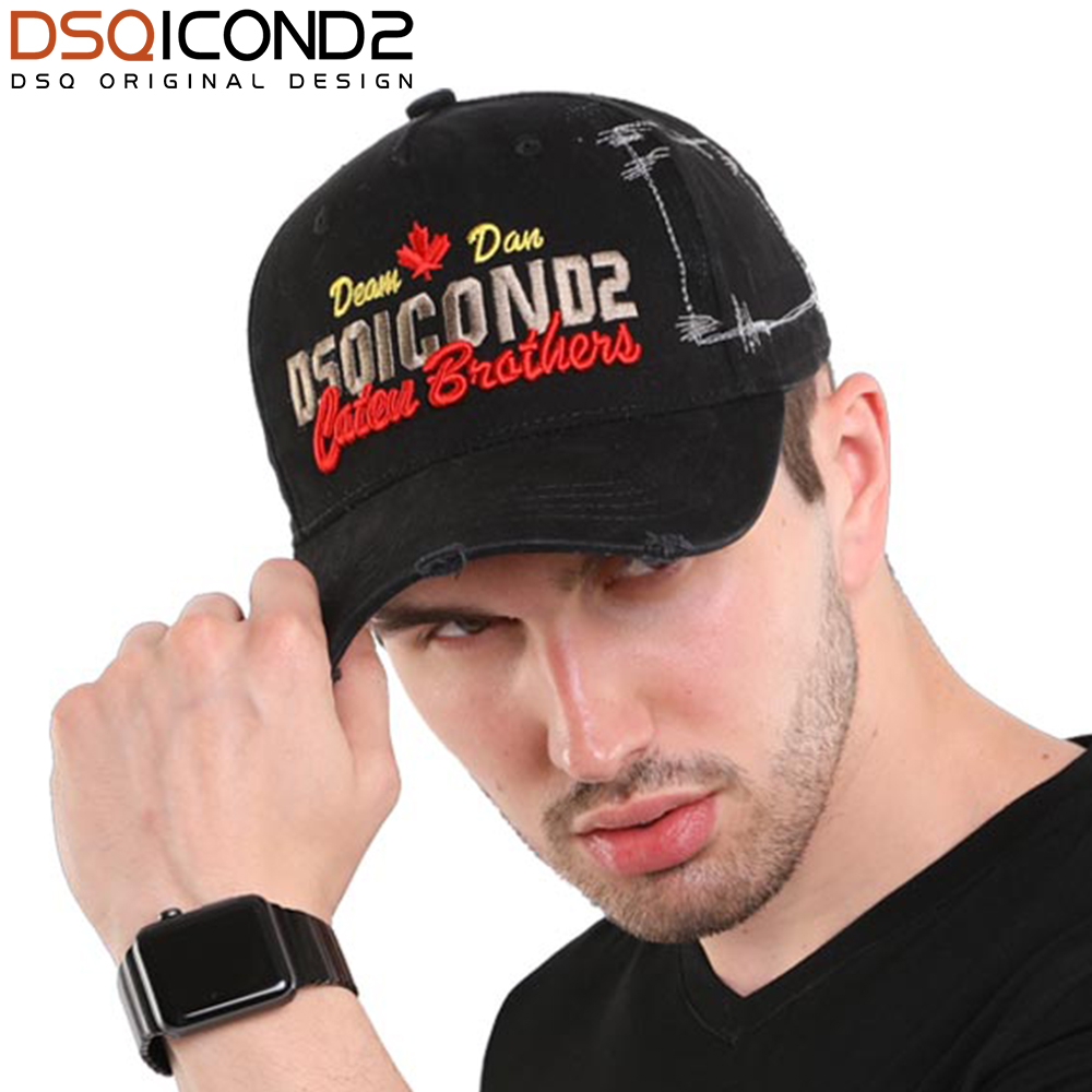 DSQICOND2 Casual Baseball Caps Men Brand DSQ 2018 Fashion Letter Snapback Caps for Men Women Cap Bone Dad Hats Hip Hop Casquette 2018 pink black cap solid color baseball snapback caps suede casquette hats fitted casual gorras hip hop dad hats women unisex
