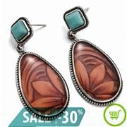 2019-High-Quality-Vintage-Women-Turquoise-Alloy-Ear-Stud-Dangle-Bohemian-Earrings-Wedding-Jewelry-Wholesale