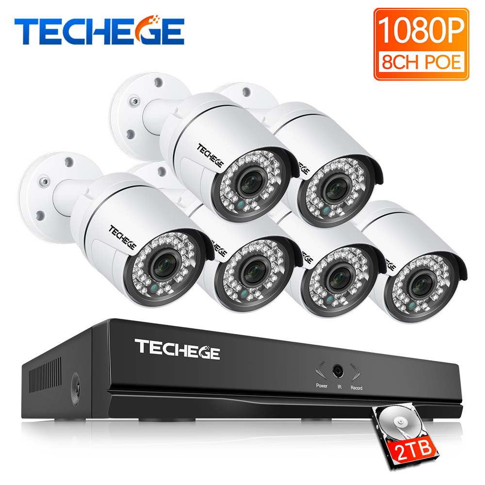 Techege 8CH CCTV Security Kit 3000TVL IP Camera 2.0megapixel Waterproof Night Vision IR 20M Onvif P2P Camera System Video SystemTechege 8CH CCTV Security Kit 3000TVL IP Camera 2.0megapixel Waterproof Night Vision IR 20M Onvif P2P Camera System Video System