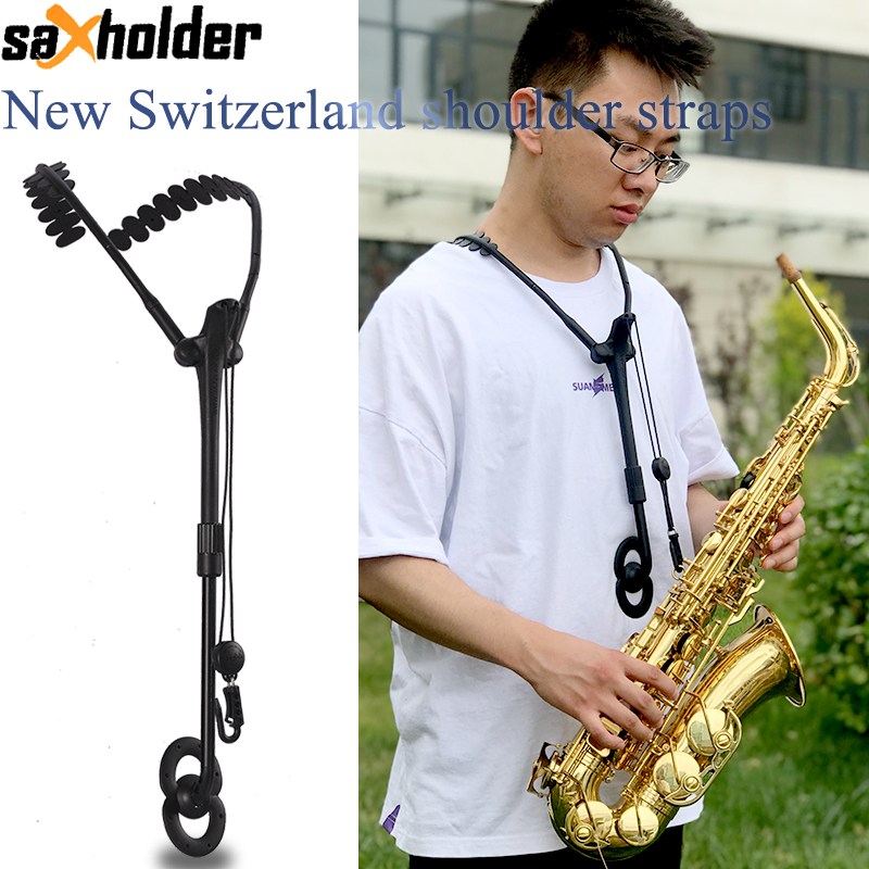 New Switzerland Shoulder Straps Saxholder Sax Two Shoulder Straps Alto Tenor Soprano Sax Straps