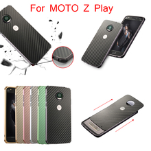 For Motorola Moto Z Play XT1635 Case Aluminum Metal Frame+Carbon Fiber Hard Back Cover Case for Moto Z Play Vertex Moto X4 цена