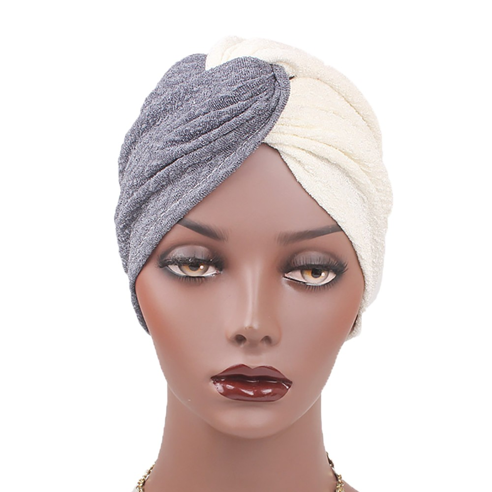 Hat Muslim Women Panelled Muslim Hat Stretch Retro Turban Hat Muslim Head Scarf Wrap Cap Winter Hats For Women New C0412