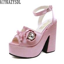 Bigtree женские туфли-лодочки с цветочным узором стразы сандалии с блестками, в богемном стиле, в богемном стиле с цветочным принтом, с украшени...
