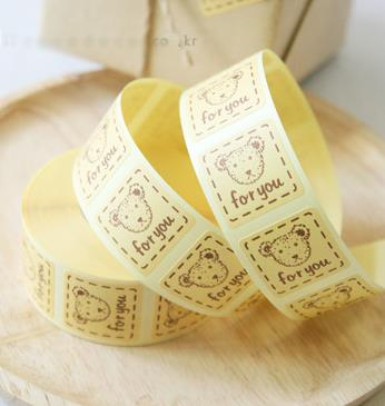 [4Y4A] 80pcs/roll DIY stickers for you stickers wrapped biscuits bags sealed stickers