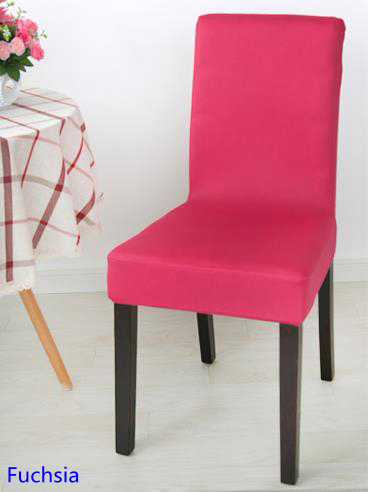 Outstanding Us 2 0 Fuchsia Colour Spandex Lycra Chair Cover Fit For Square Back Home Chairs Wedding Party Home Dinner Decoration Half Cover In Chair Cover From Creativecarmelina Interior Chair Design Creativecarmelinacom
