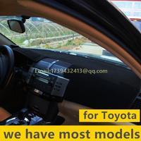 Car Dashboard Covers Instrument Platform Pad Car Accessories Sticker Fits Toyota Prado 2700 4000 LC120 LC150