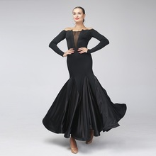 sexy black Standard ballroom dress ballroom dance competition dresses standard ballroom waltz dresses flamenco dresses tango