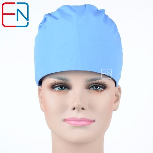 7b71cd7c614 Hennar Medical Surgical Caps Top Quality Brand Pet Doctor Dentist Scrub Caps  Pure Color Surgical Hat Adjustable Nurse Scrub Caps
