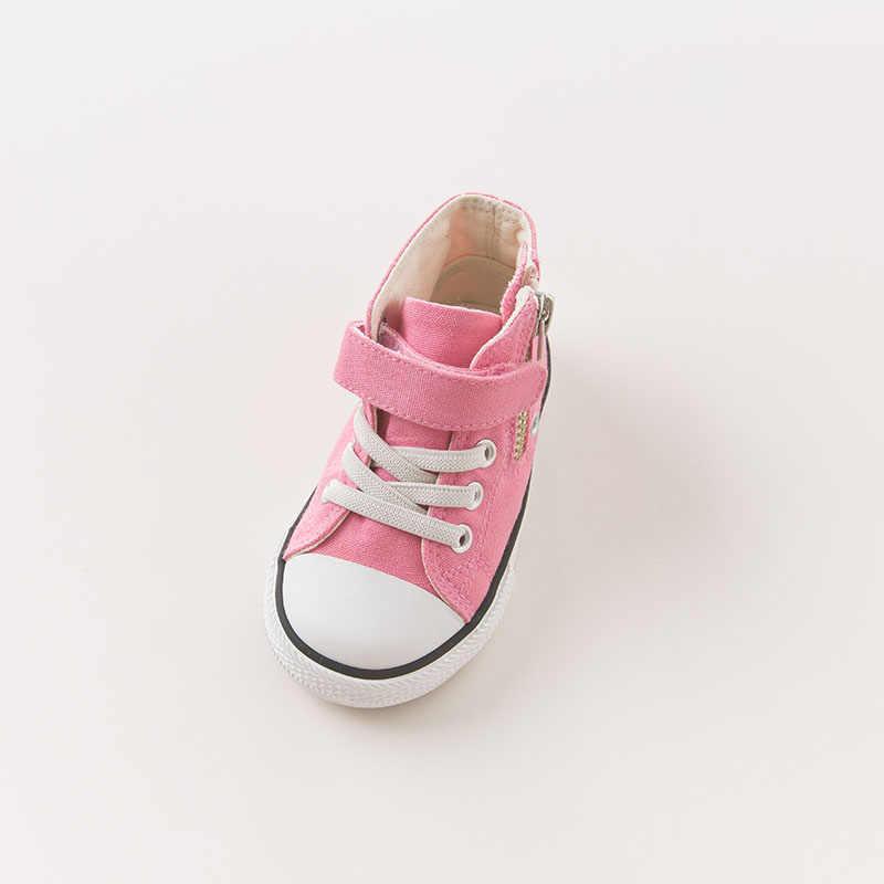 DB6432 Dave Bella ฤดูใบไม้ร่วงเด็กทารกเด็กผู้หญิงผ้าใบรองเท้ารองเท้า