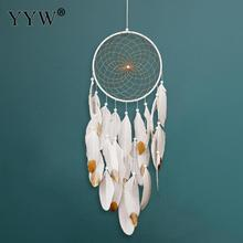 Dream Catcher Nordic Scandinavian Style Hanging Room Decoration Feather Hunter Substance Dreamcatcher Net For The Car Hoops