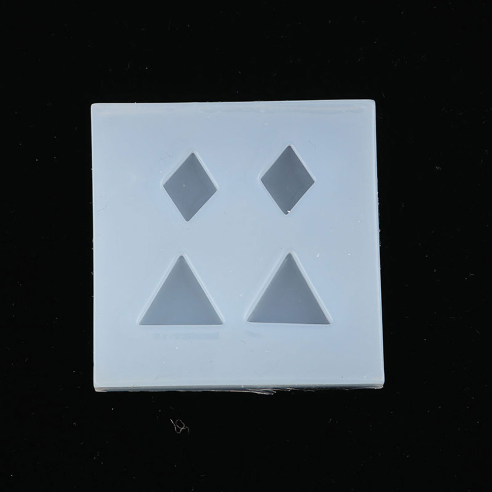 Silicone Resin Mold For Jewelry Making Triangle White Rhombus 49mm(1 7/8