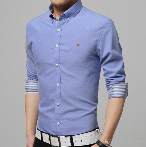 Handsome Men Shirt Spring And Summer Wear Leisure Business Office Of The Long Sleeved Young