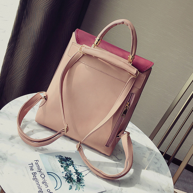 Girl School Bags For Teenagers Women Small Backpack Black Leather Women's Backpacks Fashion Female Backpacks 5