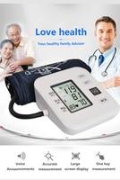 Portable Arm Blood Pressure Pulse Monitor Digital Upper Blood Pressure Monitor Meters Sphygmomanometer Health Care Monitors