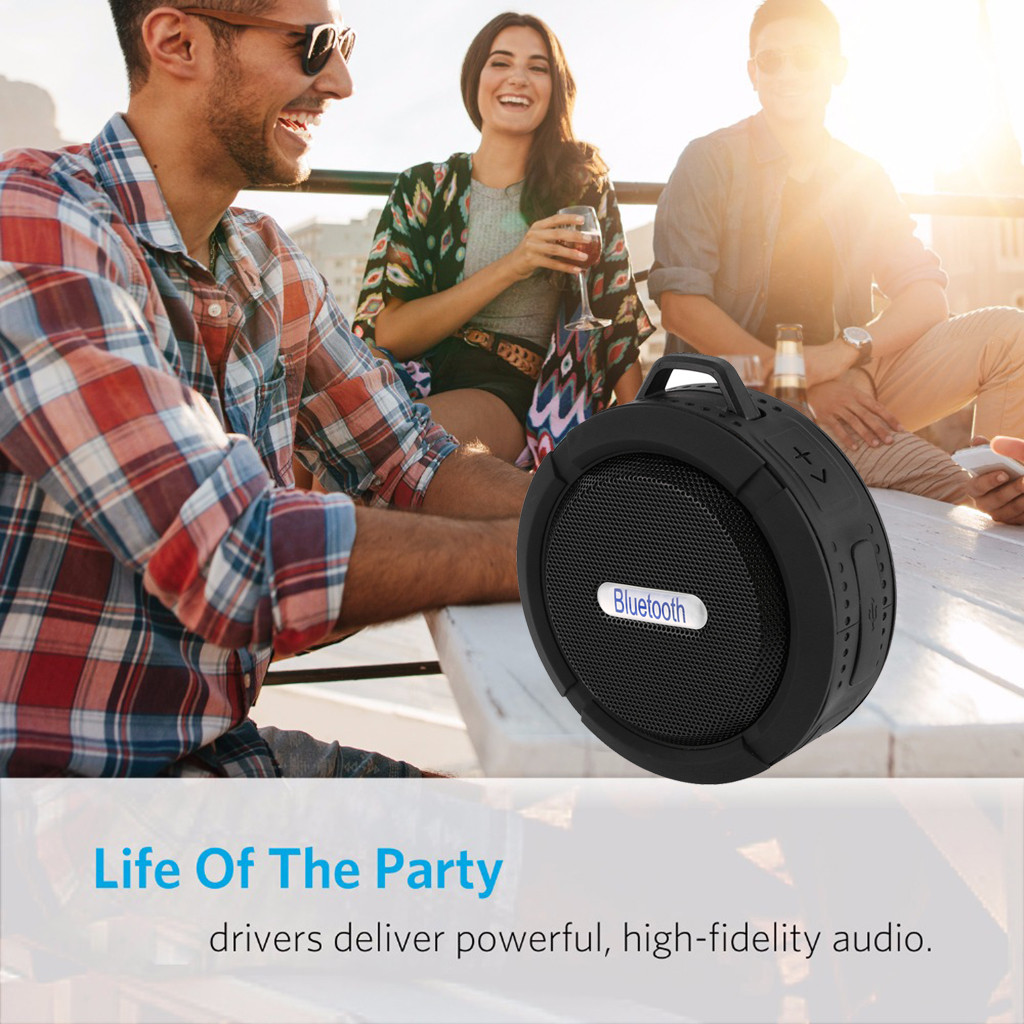 Image 5 - Bluetooth Speaker Outdoor HIFI Portable Wireless Bluetooth Speaker Stereo Sound Bar TF Subwoofer Column Speakers With Hand Strap-in Portable Speakers from Consumer Electronics