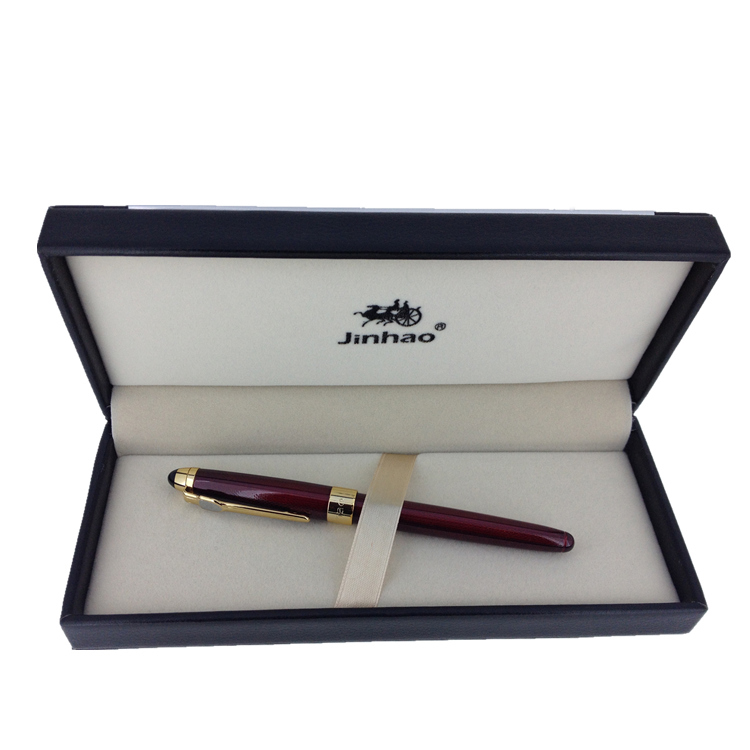 High-end Business Office Gift Fountain Pen Jinhao Fine Nib 0.5mm Iraurita Ink Pens with An Original Gift Box Writing Stationery most popular duke confucius bent nib art fountain pen iraurita 1 2mm calligraphy pen high end business gift pens with a pen case