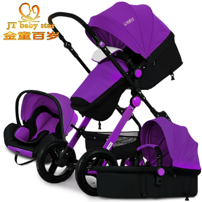 2017 European 3 In 1 Baby Strollers Light Car Newborn Carriage 0~36 Months Europe Pram Five Color Fast Delivery gold baby brand  free 3 in 1 baby strollers light baby car sleeping basket newborn baby carriage 0 36 months europe baby pram carriage five color