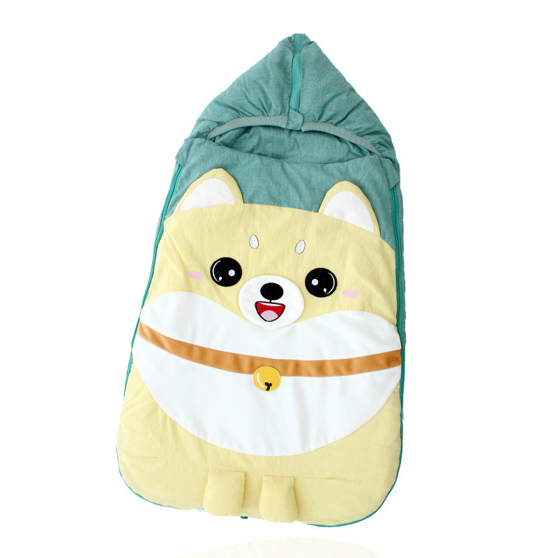 Cotton Infant Swaddle Anti-shock Newborn Sleeping Bag Autumn Winter Detachable Liner Baby Sleep Sack Stroller Blanket Quilt цена