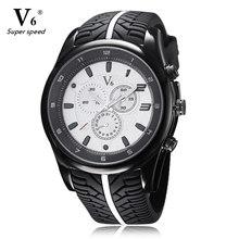 Hombres Deportes Relojes 2016 Moda V6 Neumáticos De Silicona Banda Militar Reloj de Cuarzo Ocasional Reloj Masculino Del Relogio masculino Esportivo