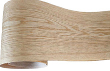 2 części/partia L: 2.5 m szerokości: 150mm grubość: 0.2mm białe drewno dębowe fornir fornir meble fornirowe (włóknina tylna)