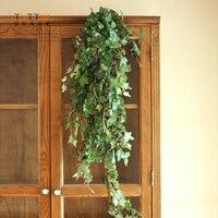 צמחים מלאכותיים פרחים וזרים פרחים דקורטיביים קיסוס parthenocissus ראטאן קישוט קישוט בית הסימולציה פרח