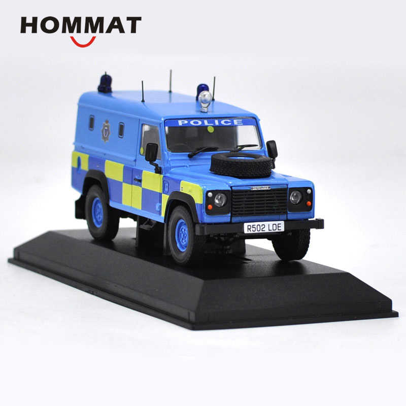 HOMMAT Simulation 1:43 Defender Police Off-road SUV Model Car Alloy Diecast Toy Vehicle Car Model Collectable Collection Gift