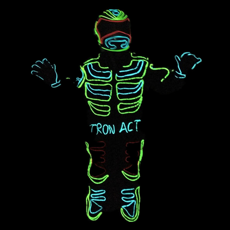 Led Growing Flashing Tron Robot Suit / EL Wire Costume Dance ...