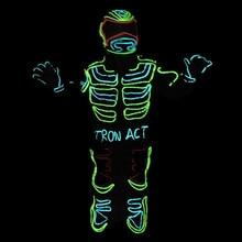 Светодиодные растущий мигает трон робот костюм/EL Провода костюм танец Костюмы одежда для сценического шоу DJ принимаем Индивидуальные Дизайн