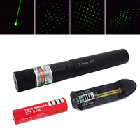 2 In 1 Adjustable Focus 5mw 532nm High Power Green 303 Laser Pointer Pen With 18650