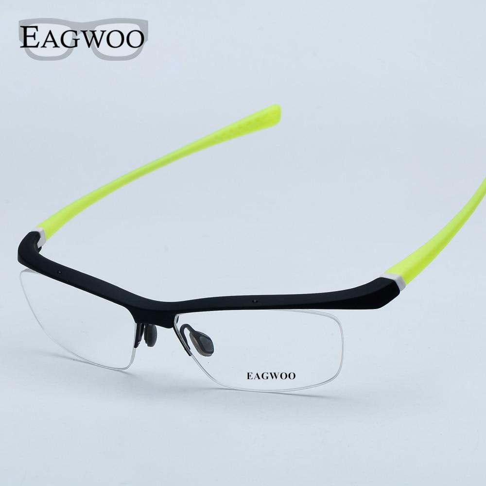 Sports frames for eyeglasses - Sports Eyeglasses Half Rim Driving Fishing Optical Frame Prescription Spectacle Men Big Size Fashion Super Light