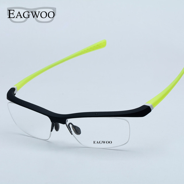 Esportes Óculos Pesca Condução Frame Ótico Metade Aro Prescrição Espetáculo Homens Tamanho Grande Moda Super Leve Óculos Ao Ar Livre