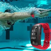 2017 IP68 Водонепроницаемый Одежда заплыва Смарт Браслет Спорт GPS Фитнес трекер сердечного ритма сна Мониторы браслет для iOS и Android