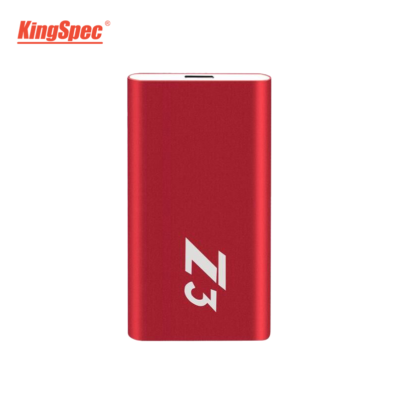 Z3-256 KingSpec Externe Portable SSD Disque Dur 256 gb USB 3.1 Type-c Solide State Disk Usb 3.0
