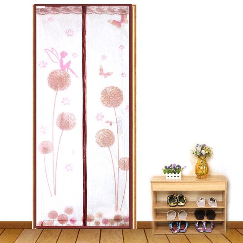 Durable Magnetic Mesh Door Screen Mosquito Net Curtains Protect Living Room Doors Organza Screen 90*