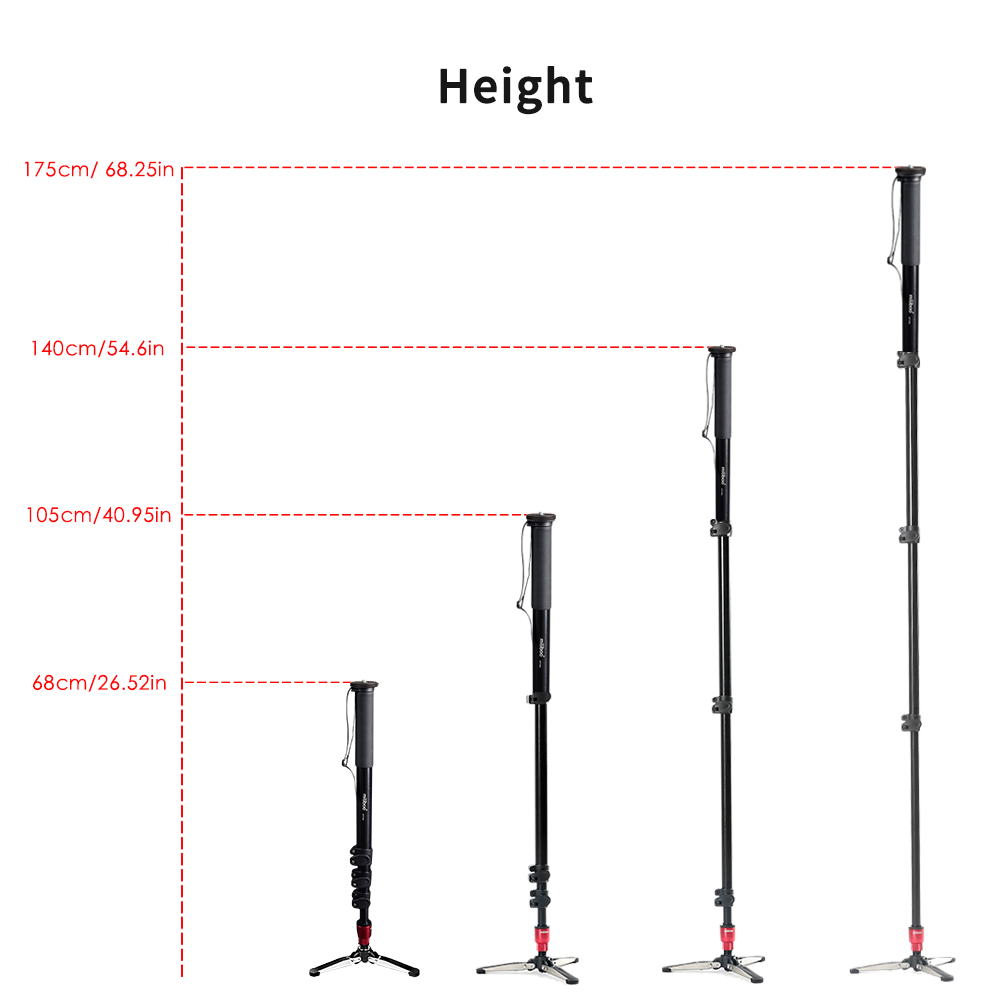 miliboo MTT705A (without head)  Portable Carbon Fiber Monopod for Professional DSLR/ Camera/ Video Camcorder Tripod Stand