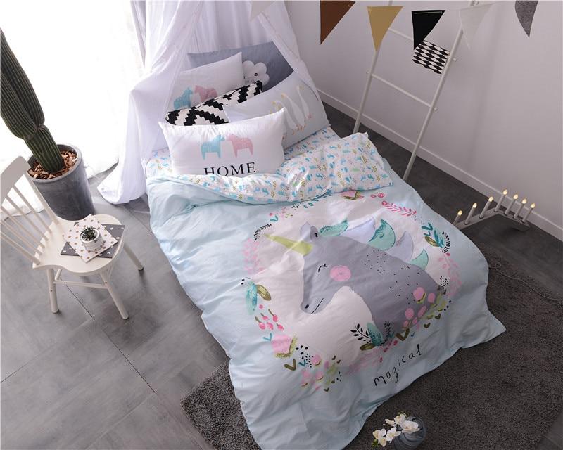 ivarose cartoon unicorn unids sistemas del lechojuego de camaropa de cama