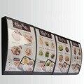 (3 графика/колонка) светодио дный Настенный СВЕТОДИОДНЫЙ изогнутый меню световой короб, освещенная доска знак Ресторан забрать