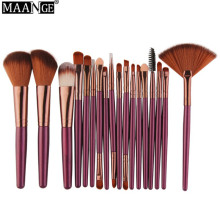 MAANGE 18 шт Профессиональные кисти для макияжа Set Comestic Powder Foundation Blush Eyeshadow Eyeliner Lip Make up Brush Tools
