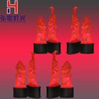 8 упак. 36 шт. * 10 мм светодиодный SMD мерцания пламя огня эффект света Расширенный Сменные эмуляции лампа