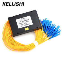 Cble KELUSHI 1*16 PLC De Fibra Óptica Divisor Caja de Tipo 1×16 Casete Dispositivo de Ramificación de Cable de Fibra Al Por Mayor precio