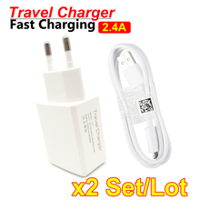 цена на 5V2.4A Fast Charging Travel Dual USB Charger Adapter Universal Wall Charger With USB Cable Samsung J3 J5 J7 EU Plug for iPhone